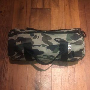 BAPE A bathing Ape Green Camo Duffle Bag